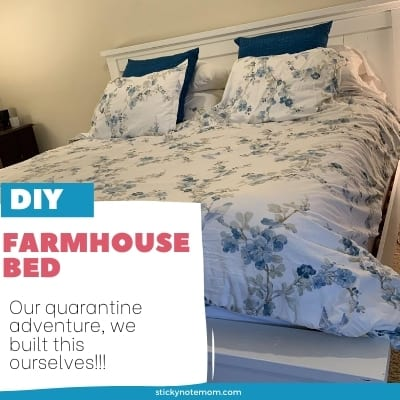 The best DIY Farmhouse Bed for beginners