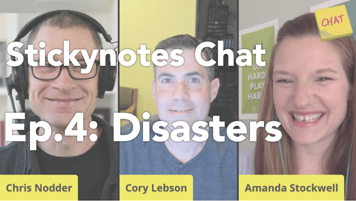 Video title thumbnail for Stickynotes Chat Ep 4 Disasters
