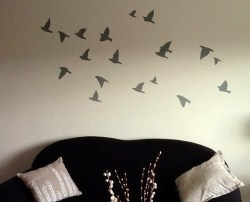 Client Photo - Flying Birds on Wall