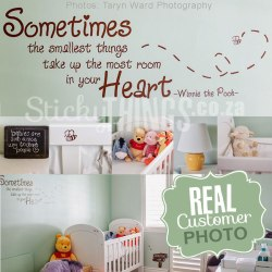 Winnie the Pooh Wall Sticker Quote