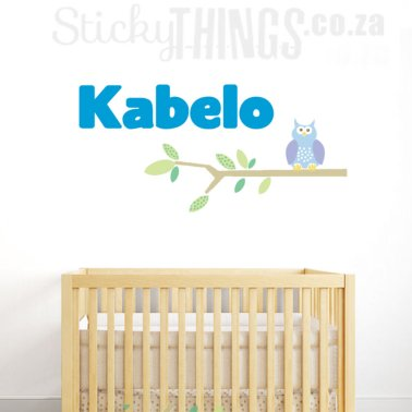 Boys Name Wall Sticker Blue