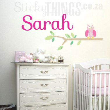 Owl Name Personalised Wall Decal