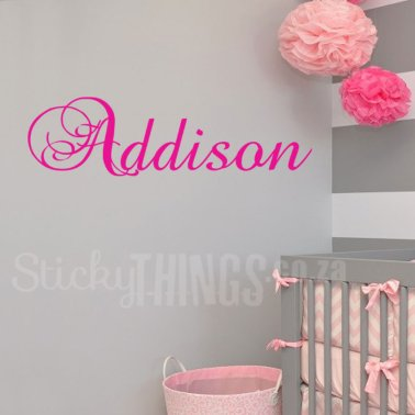Small Personalised Name Decal