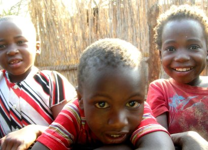 Children in village in Swaziland
