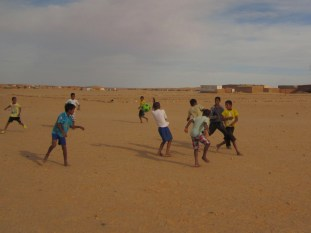 Football match in Tindouf refugee camps