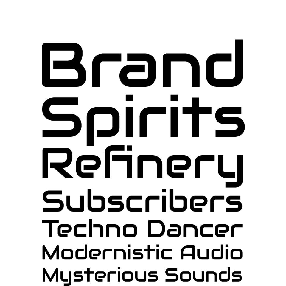 Audiowide Pro font waterfall 2
