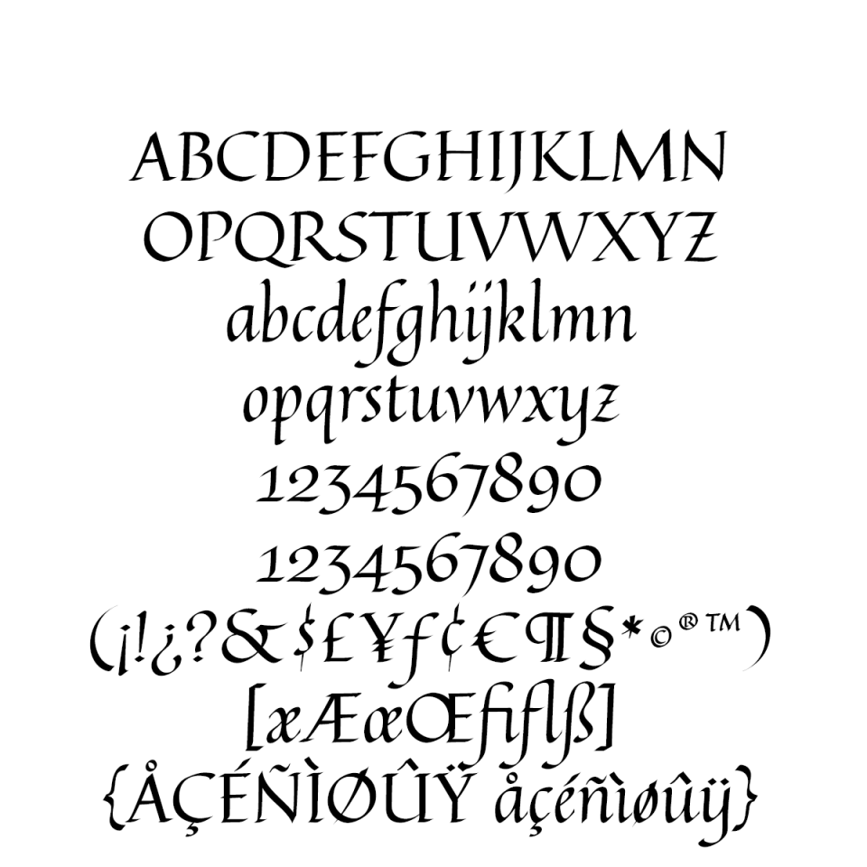 Quintessential Pro sample character set