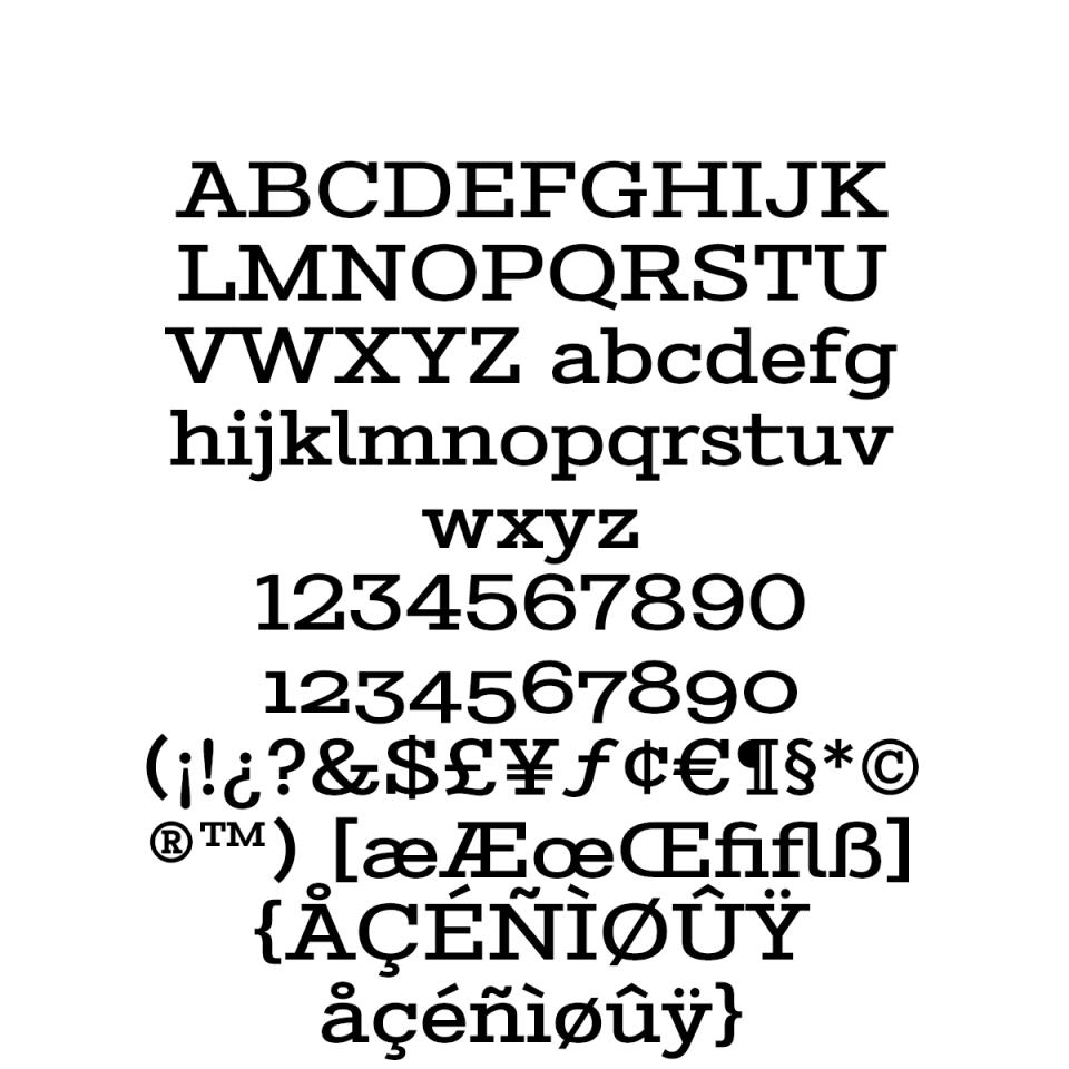 Stint Expanded Pro Medium sample character set