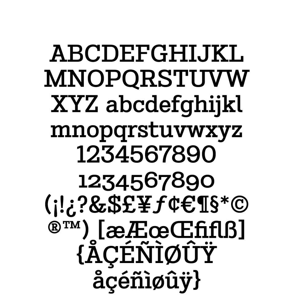 Stint Pro Medium sample character set