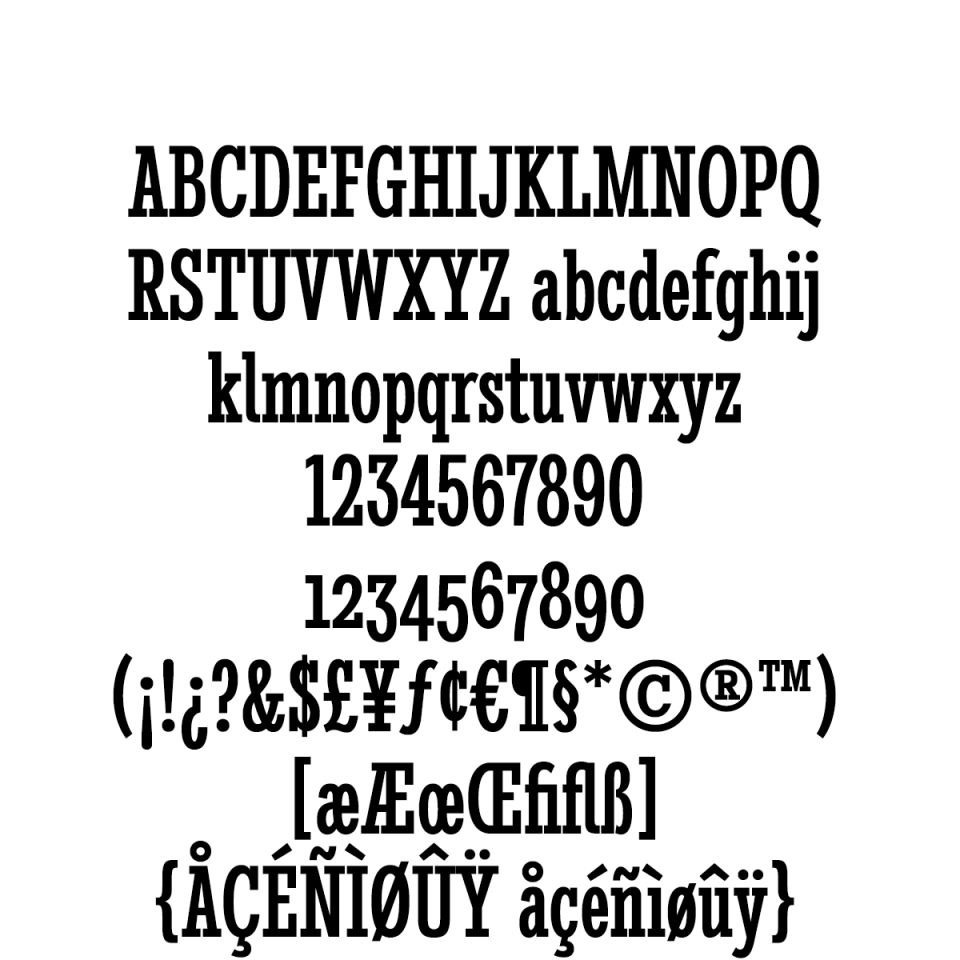 Stint Ultra Condensed Pro Medium sample character set