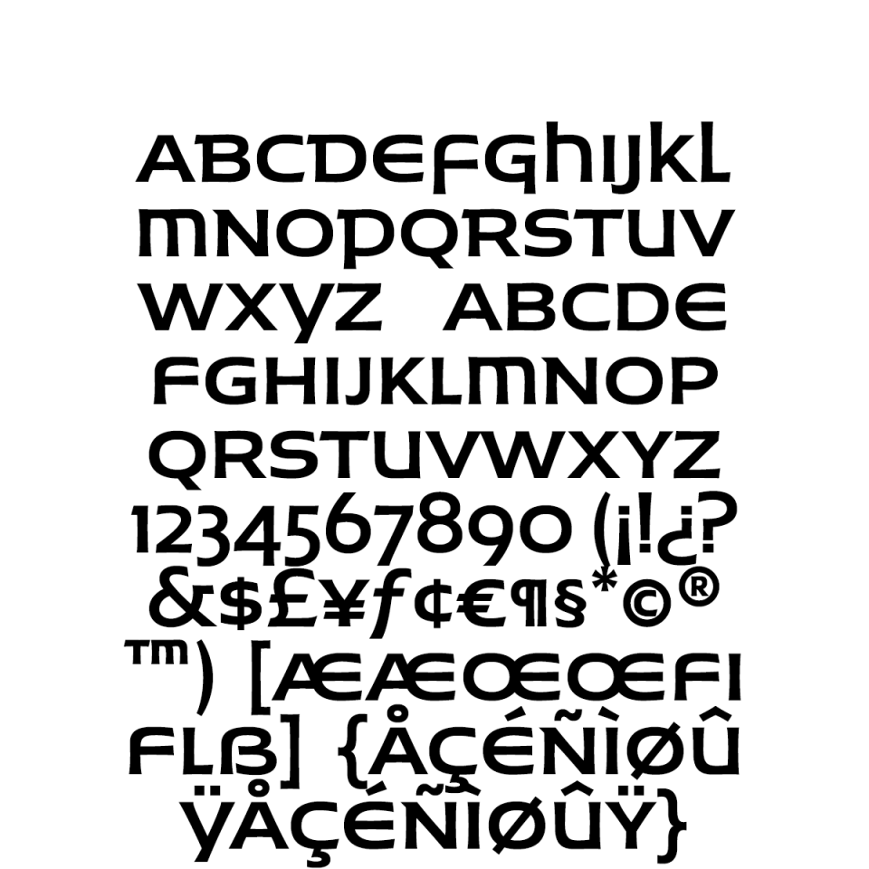 Husk-Regular Character Set sample
