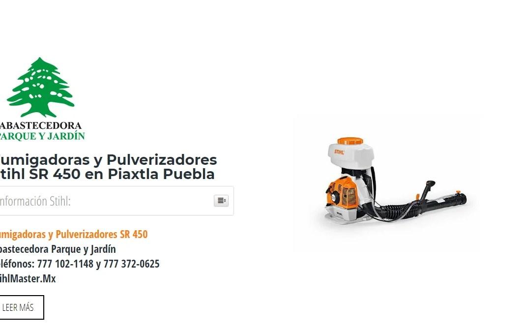 Fumigadoras y Pulverizadores Stihl SR 450 en Piaxtla Puebla