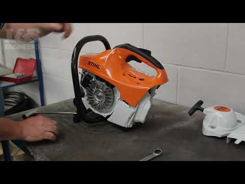 How to Check the Piston for Damage on a Stihl TS410   L&S Engineers