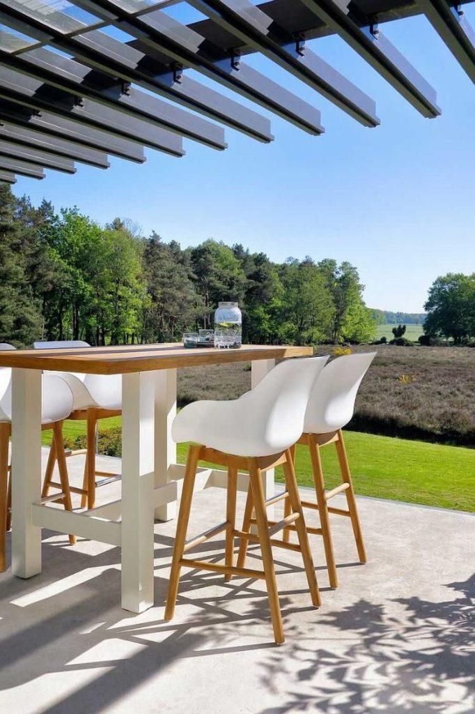 Hartman Sophie Teak tuinmeubel, bartafel en barkruk