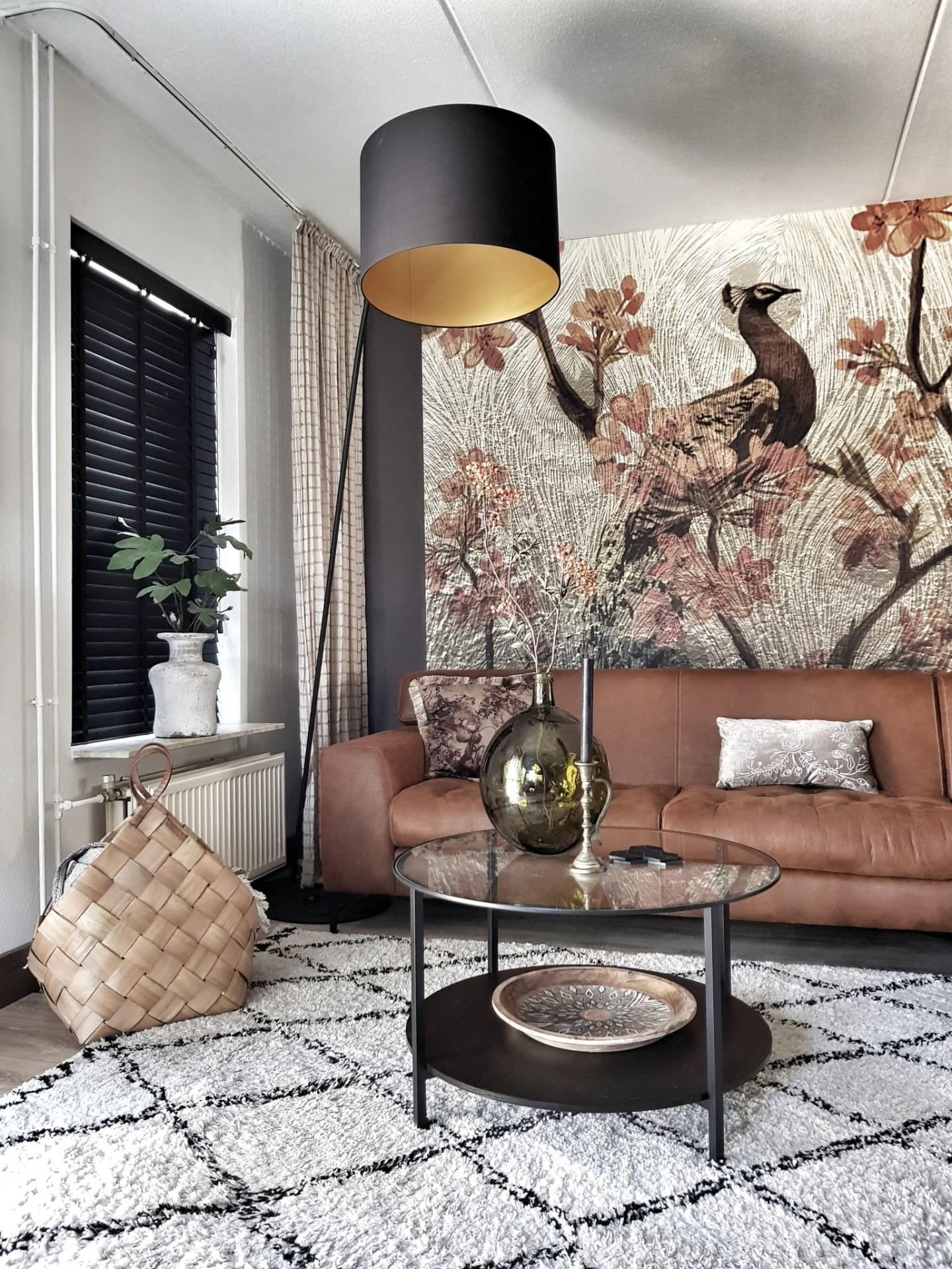 Raamdecoratie in de woonkamer
