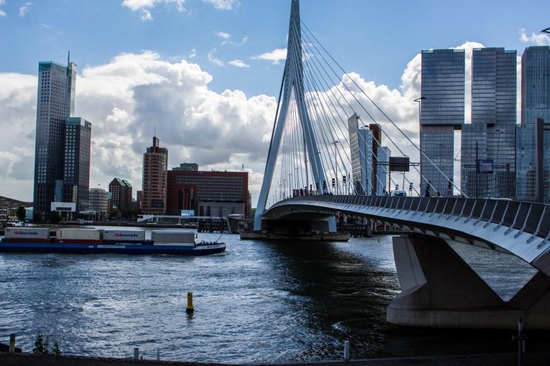 Erasmusbrug Rotterdam; 10 aug 2016