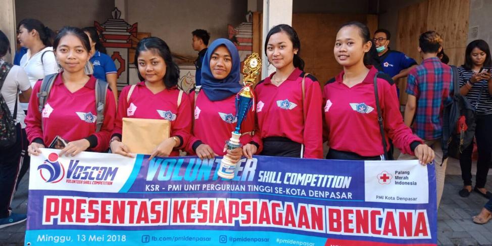 Wira Medika Raih Juara  Voskom (Volunter Skil Kompetisi) Se Kota Denpasar