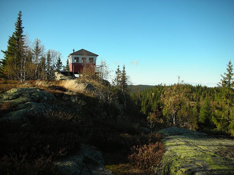 Branntårn på Normarkas høyeste topp, Kjerkeberget.