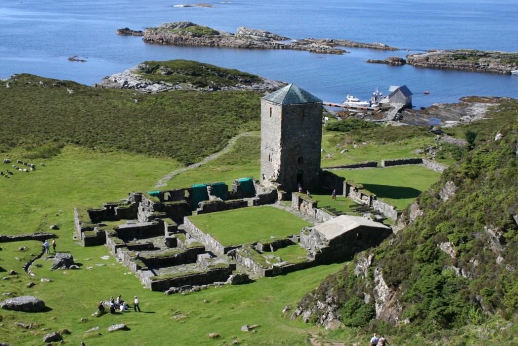 Bilde viser selje kloster ruiner.