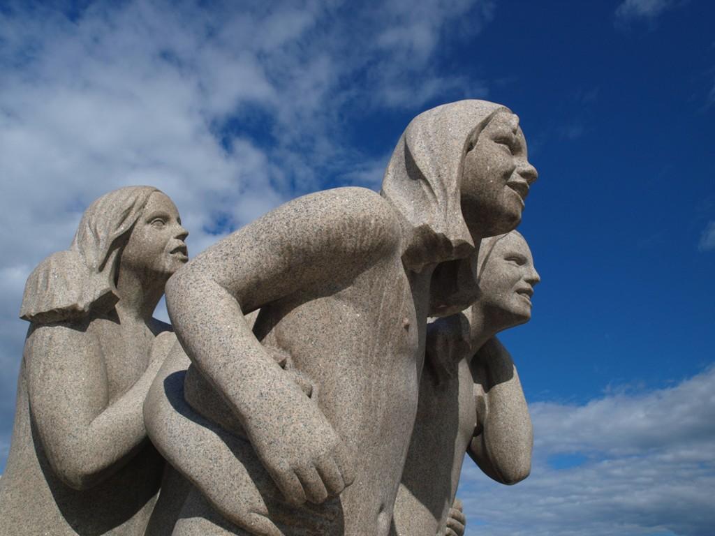 Skulptur av Gustav Vigeland i Frognerparken i Oslo