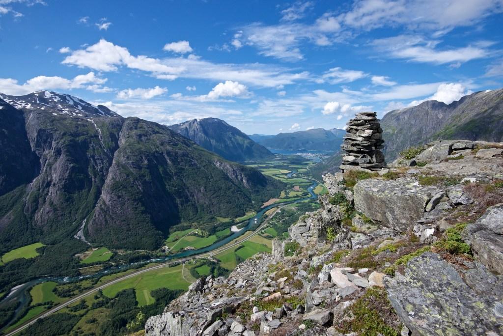 varde på fjell Romsdalen utsikt Rauma