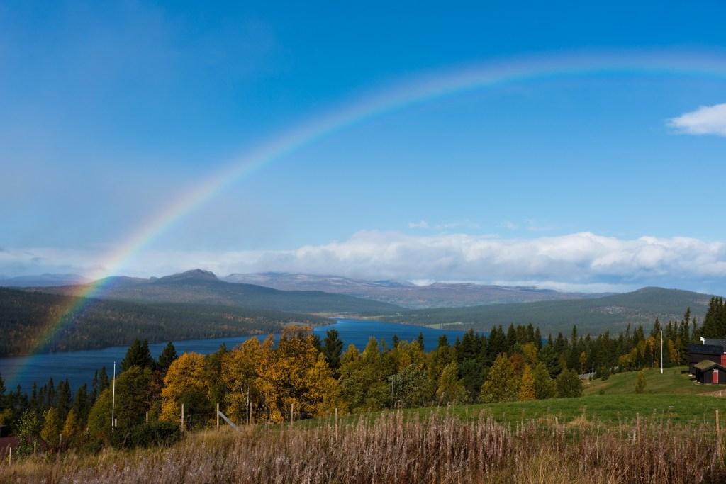 Gålå Gålåvatnet regnbue
