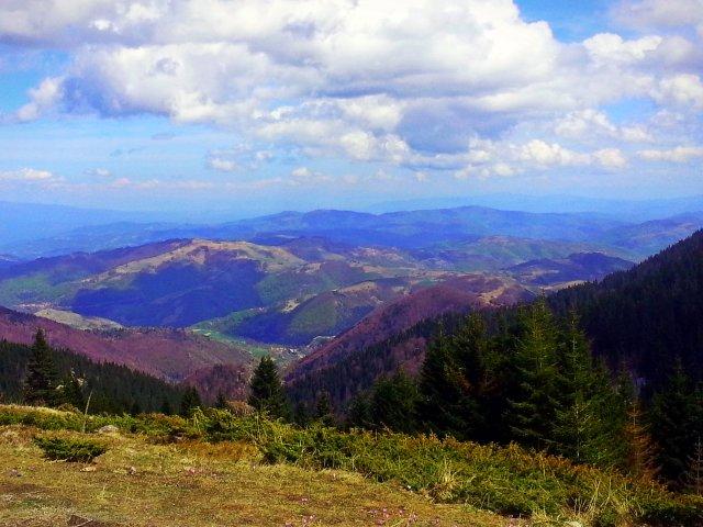 Silazak sa planine Kopaonik, obronci, 3. maj 2015 oko 15h