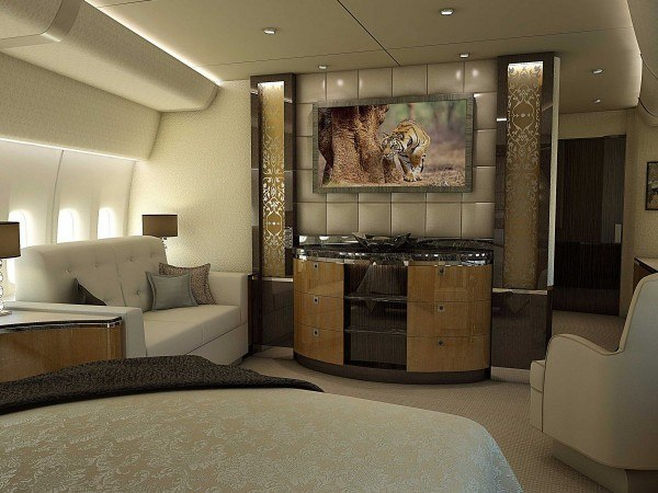 Bedroom in private boeing