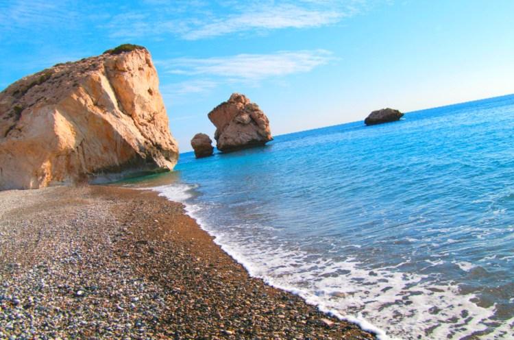 Afroditina plaža / Aphrodite beach - Petra tou Rominou