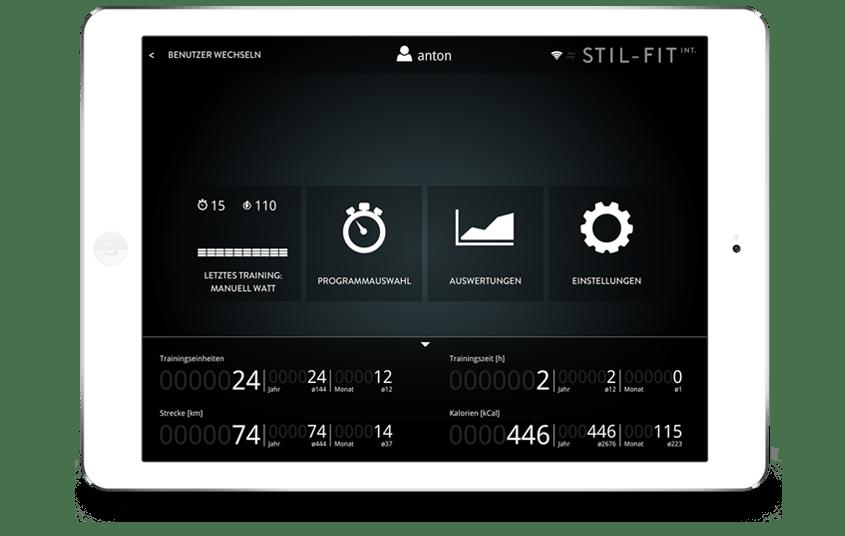 STIL-FIT International App Homescreen