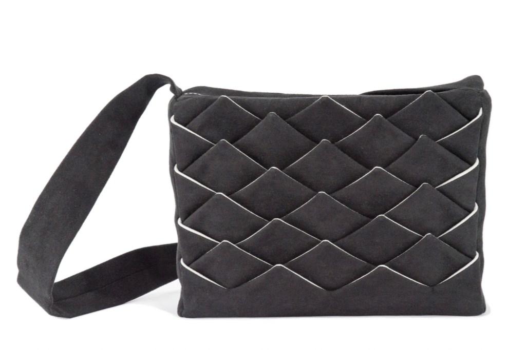 Stil-Stengel Textilkunst Tasche FISH schwarz weiß