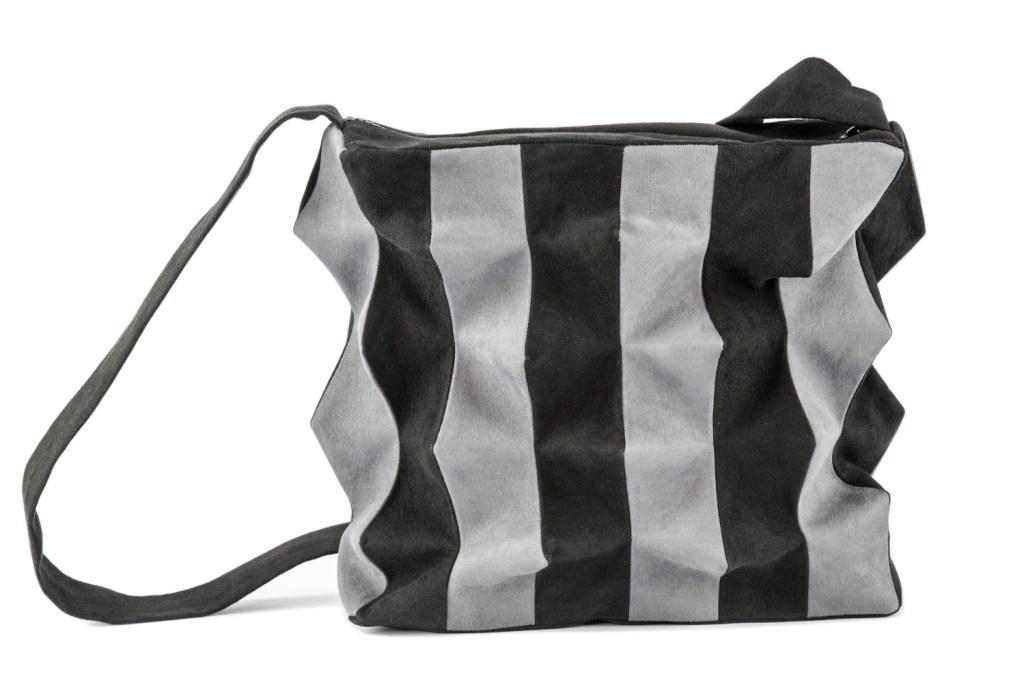 Stil-Stengel Textilkunst Tasche PANEL grau schwarz