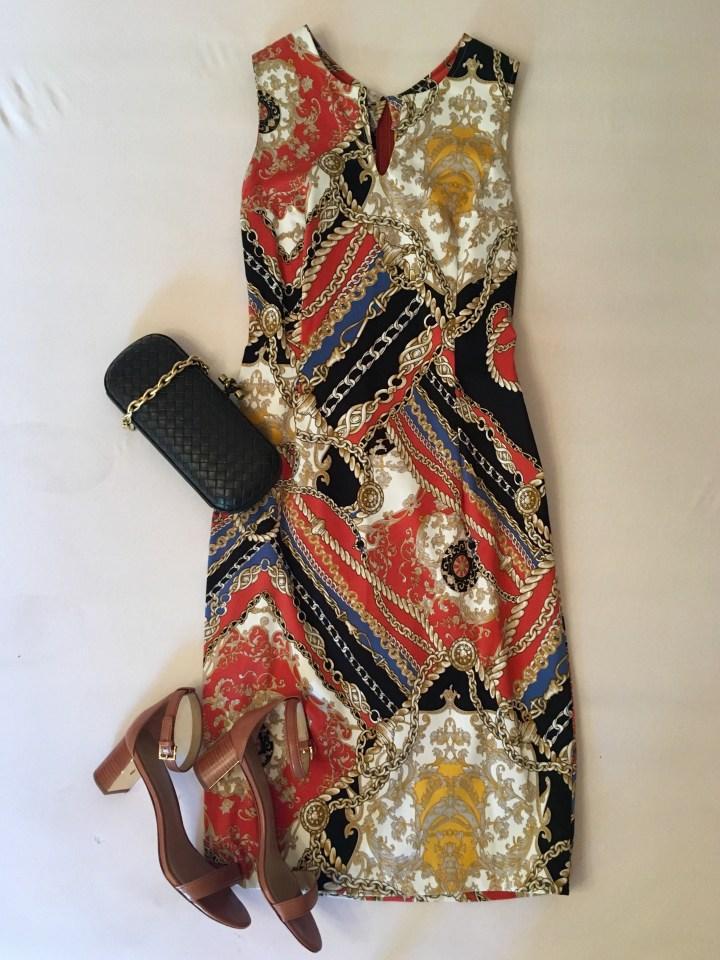 Sommerkleider kombinieren bedrucktes Kleid