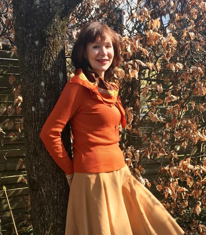 orange kombinieren im herbst