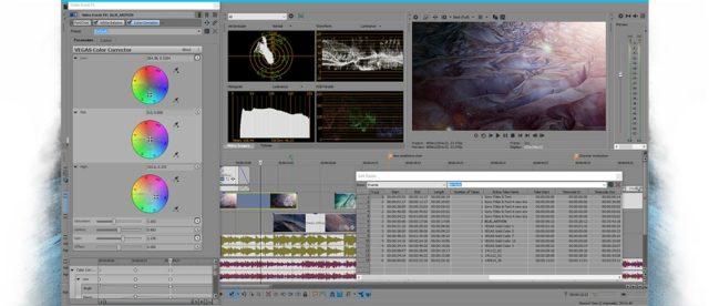 L'interface Sony Vegas Pro, logiciel de montage vidéo