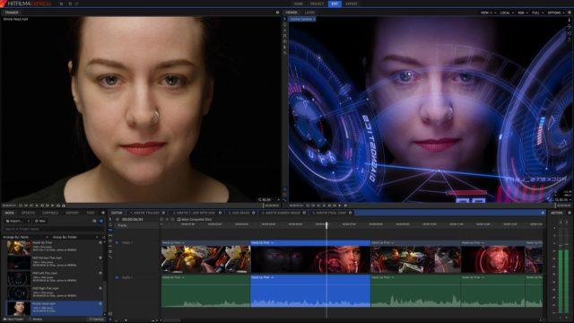 L'interface Hitfilm 4 Express