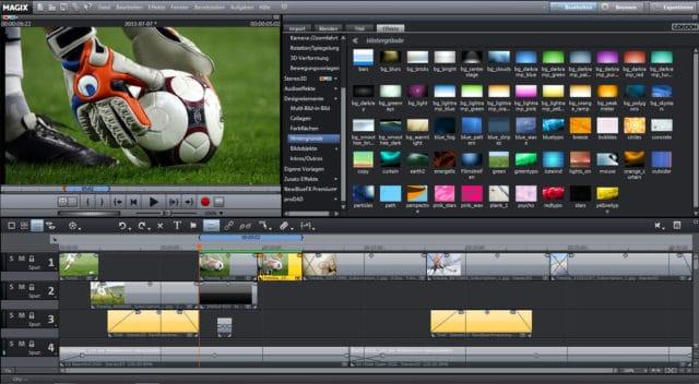 L'interface de Magix Vidéo Deluxe