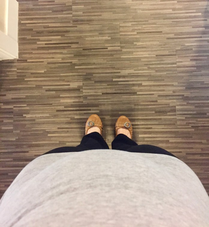 My view of my 16 week belly
