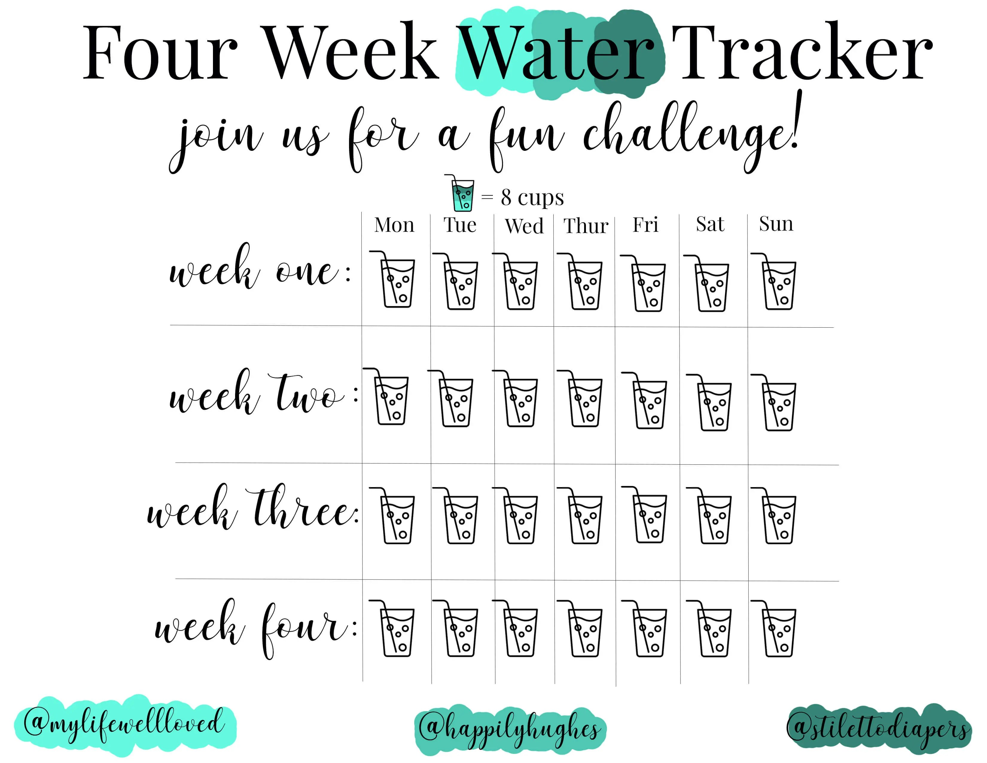 Week 2 Water Challenge And This Week S Workouts