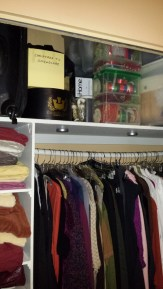 bedroom closet, holiday prep, cleaning