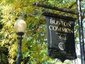 Boston Common, sign, tourists, guide