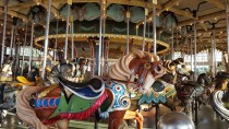 carousel, Paragon Park, Nantasket Beach, 4th of July, S. A. Young