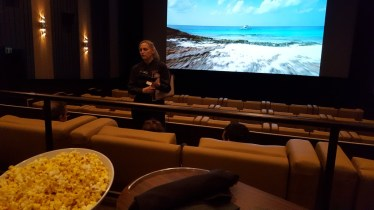 popcorn, wine, Paradise, cinema, Cinebistro, S. A. Young, experience