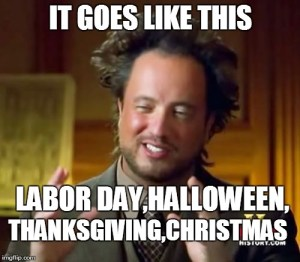 Labor Day, long weekend, meme, S. A. Young, musing