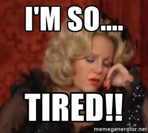 Madeline Kahn, Monday, blogging, tired, S.A.Young