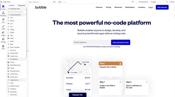 No-code Bubble haalt $ 100 miljoen op om technische mede-oprichters overbodig te maken