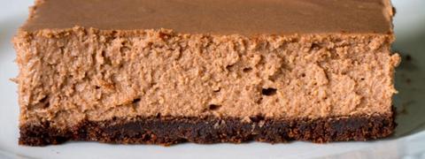 Recept voor pure chocolade cheesecake-repen