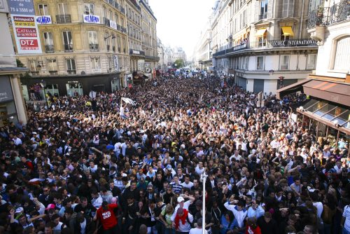 Techno Parade durin sunny days in Paris in September