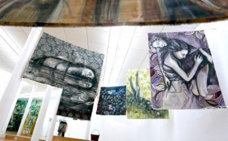 4.-Algunas-de-las-piezas-de-Alice-Pasquini-en-Swinton-Gallery.-Fotografía-Victor-VS.-466x290