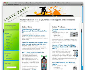 The Skate-Parts.Com Home Page